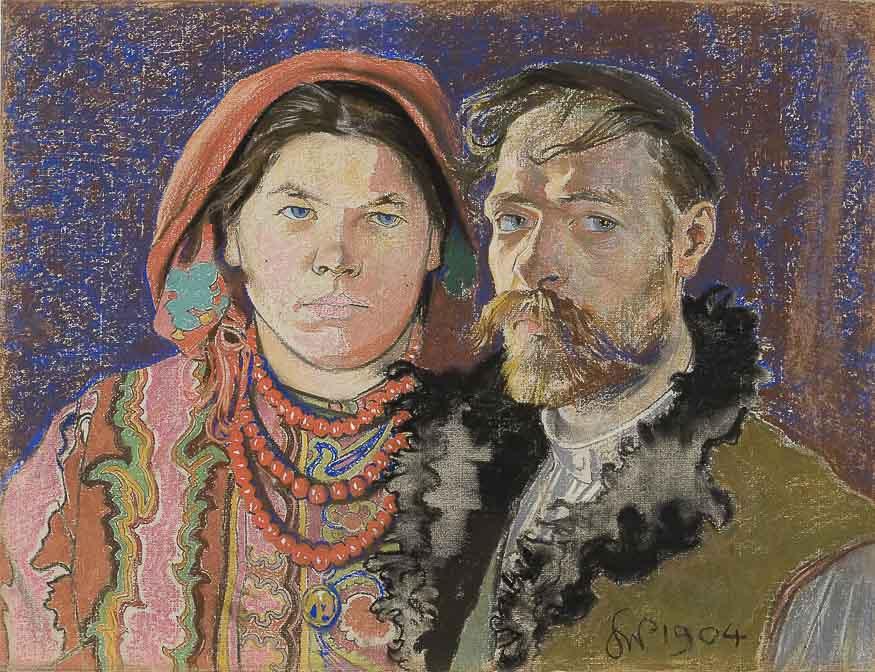 Станислав Выспяньский. Автопортрет с женой