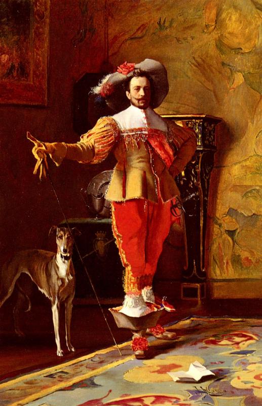 Иоганн Хамза. Кавалер и его собака