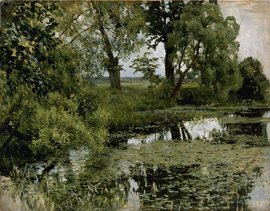 Isaac Levitan. Overgrown pond
