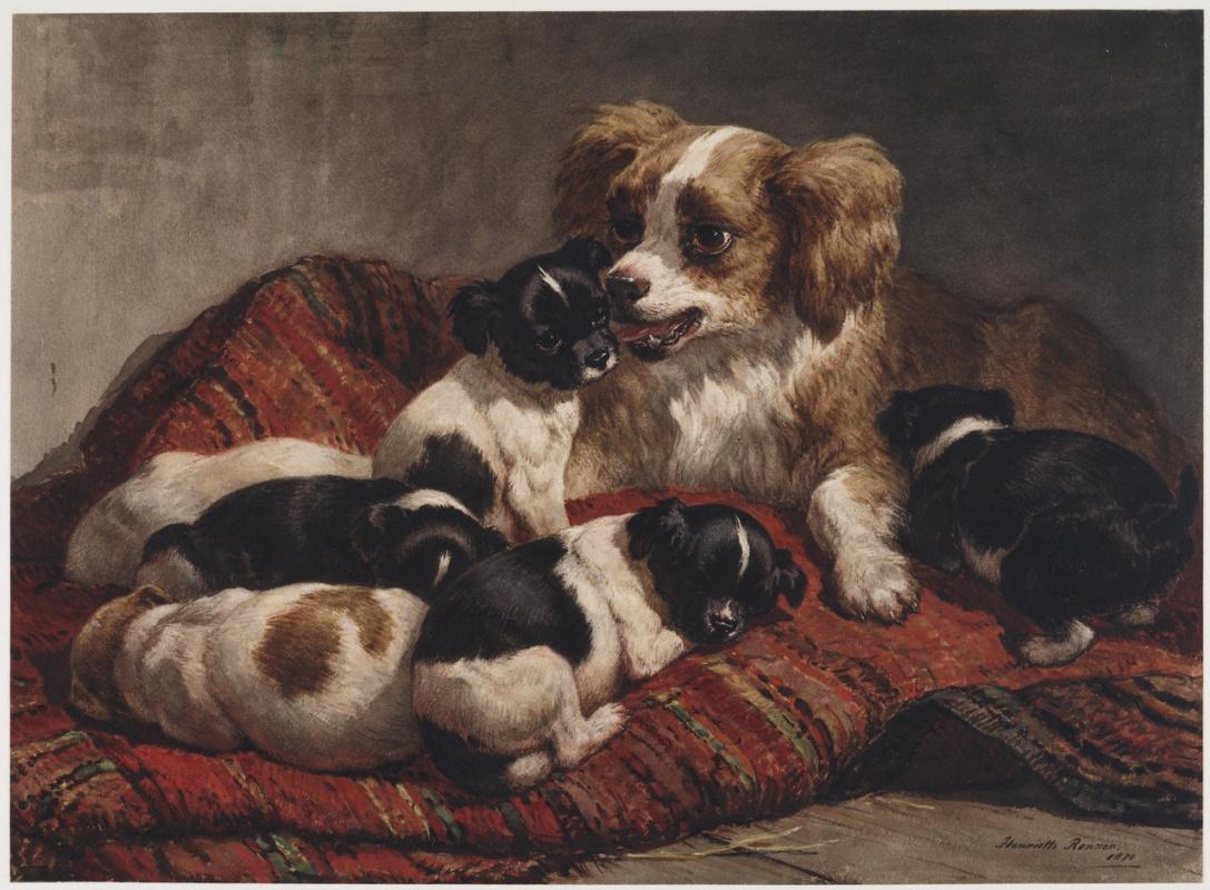 Генриетта Роннер-Книп. Собака с шестью щенками