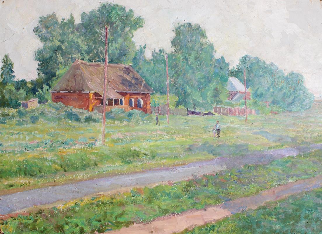 Vasily Fadeevich Demin. The Village Zarechie
