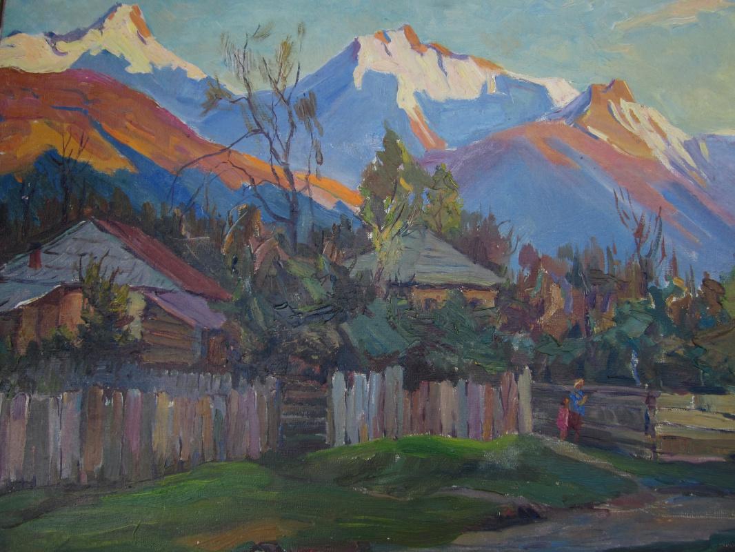 Isaakovich Janashvili Mordech. Landscape with mountains.