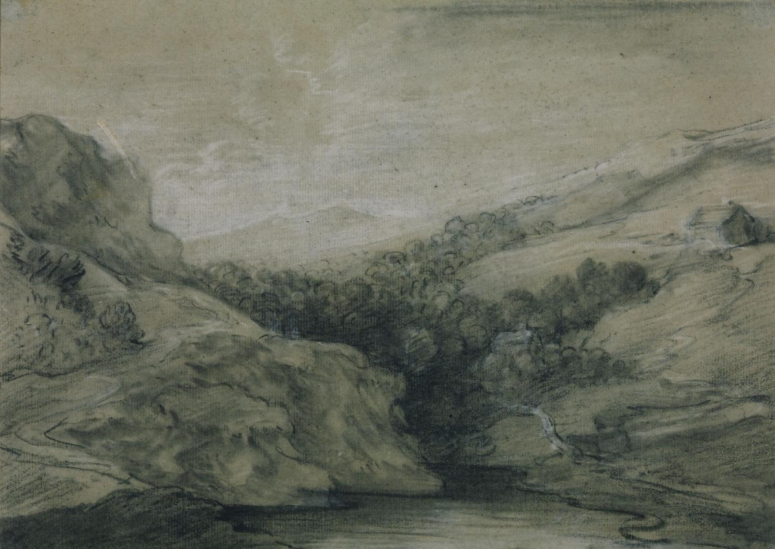 Thomas Gainsborough. Mountain landscape and a pond