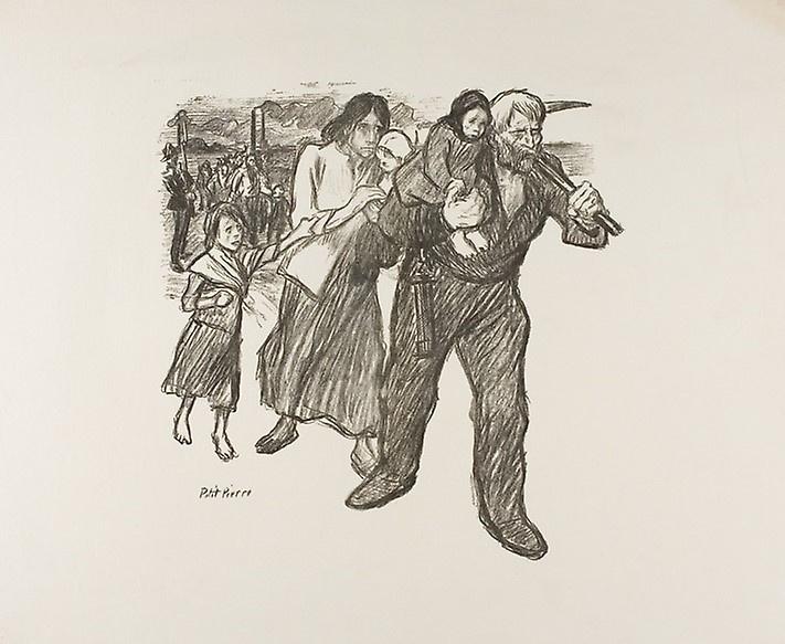 Theophile-Alexander Steinlen. The unrest in the Pas-de-Calais