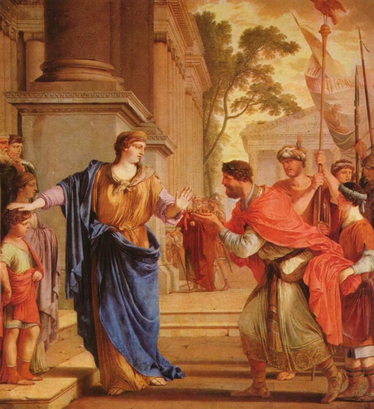 Лоран де ла Ла Ир. Корнелия отвергает корону Птолемеев