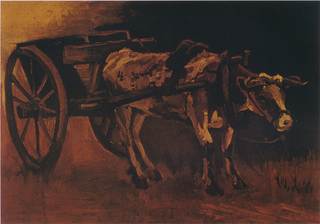 Vincent van Gogh. The cart drawn by a red-white Buffalo