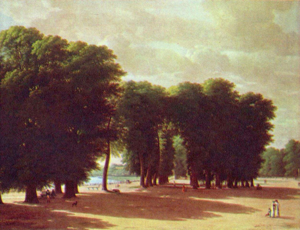 Питер Рудольф Клейн. Вид на парк Сен-Клу