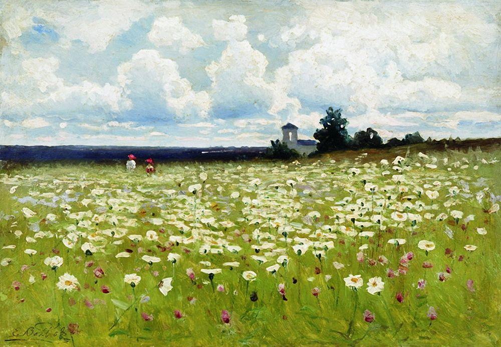 Efim Efimovich Volkov. Field of daisies