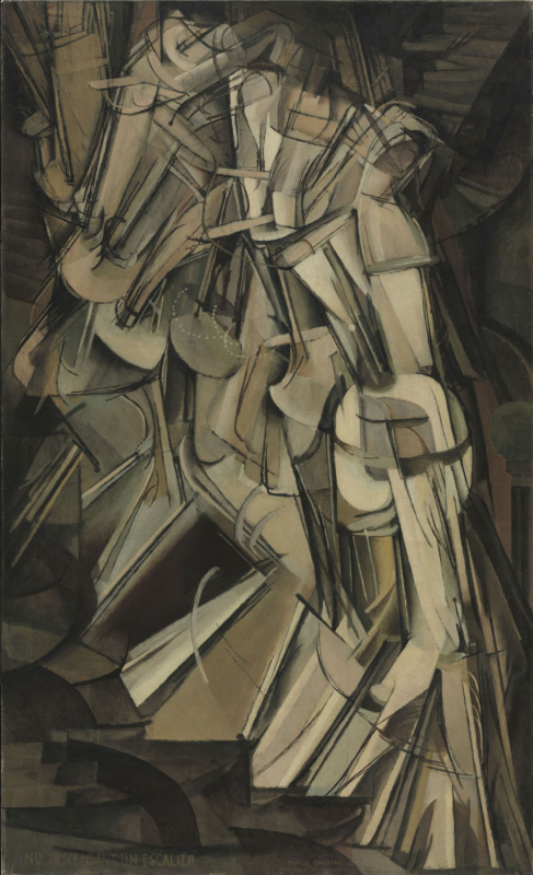 Marcel Duchamp. Nude going down the stairs