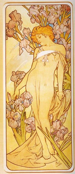 """Alphonse Mucha. Iris. From the series """"Flowers"""""""