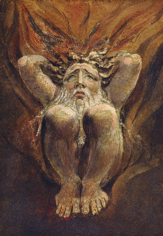William Blake. The first book Urizen. Arisen in the center of the explosion