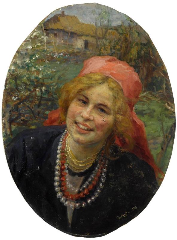 Федор Васильевич Сычков. Крестьянская девушка.  1926