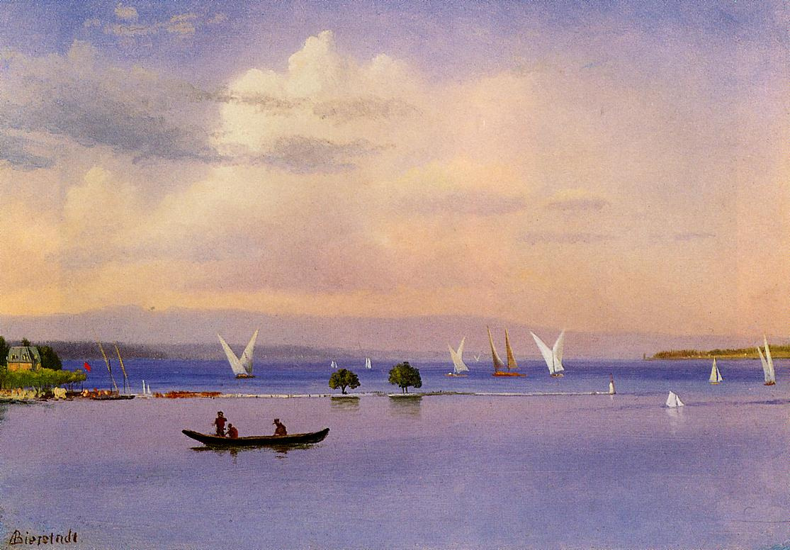 Альберт Бирштадт. Лодки на озере