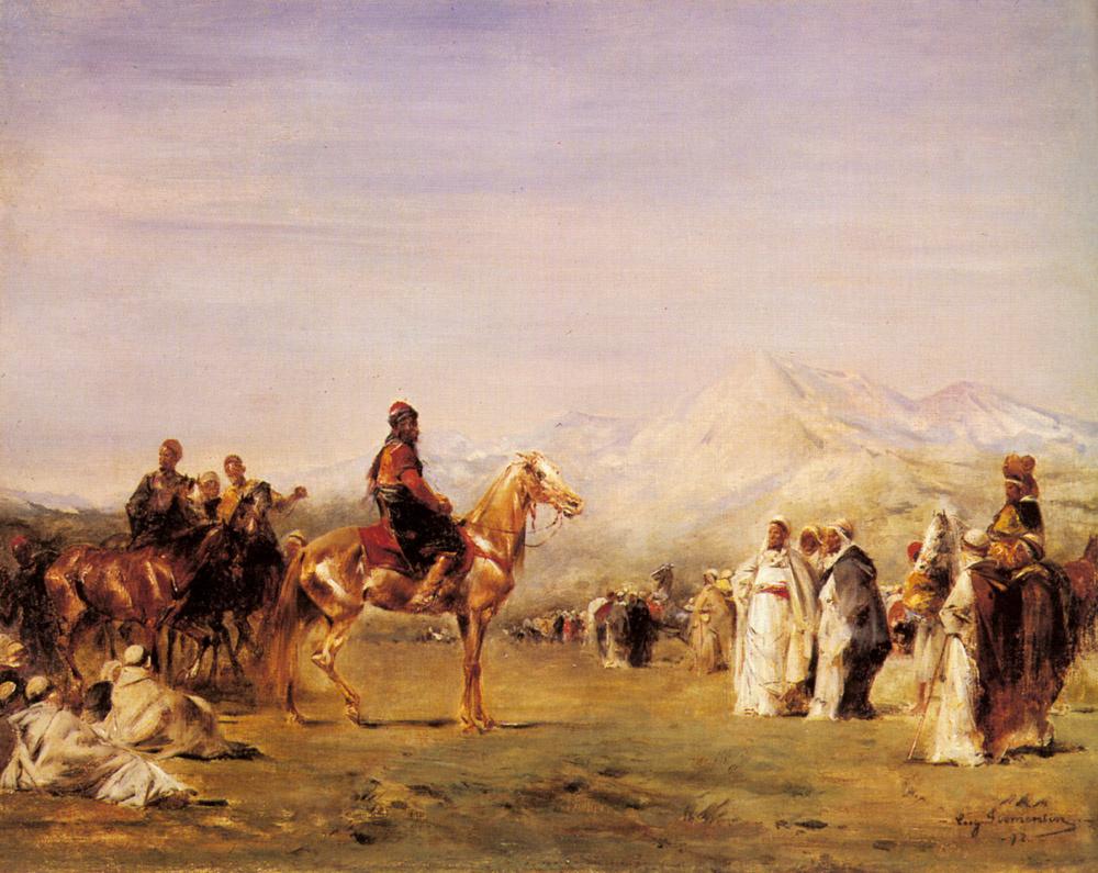 Эжен Фромантен. Арабский лагерь в Атласских горах