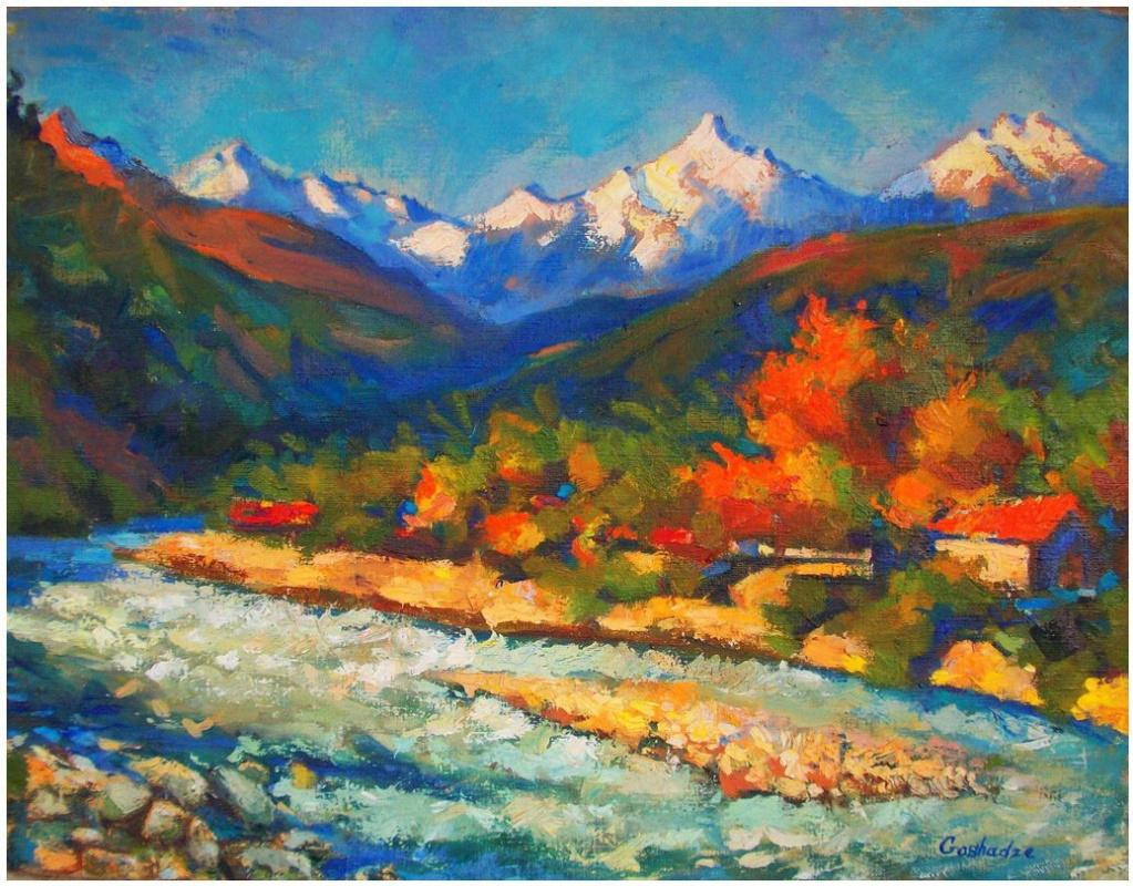 Juno Goshadze Yunona Goshadze. Painting