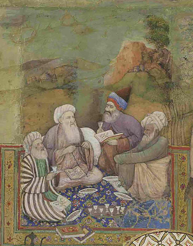 Четыре муллы (Фрагмент из панелей картин Миллионзиммера)