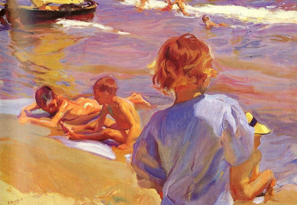 Хоакин Соролья (Соройя). Дети на пляже, Валенсия