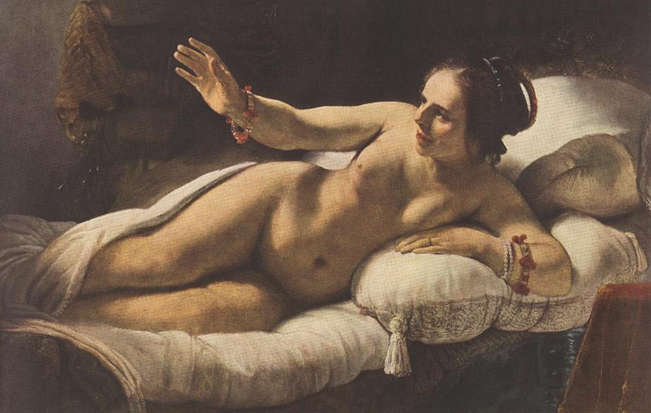 Рембрандт Харменс ван Рейн. Даная, фрагмент