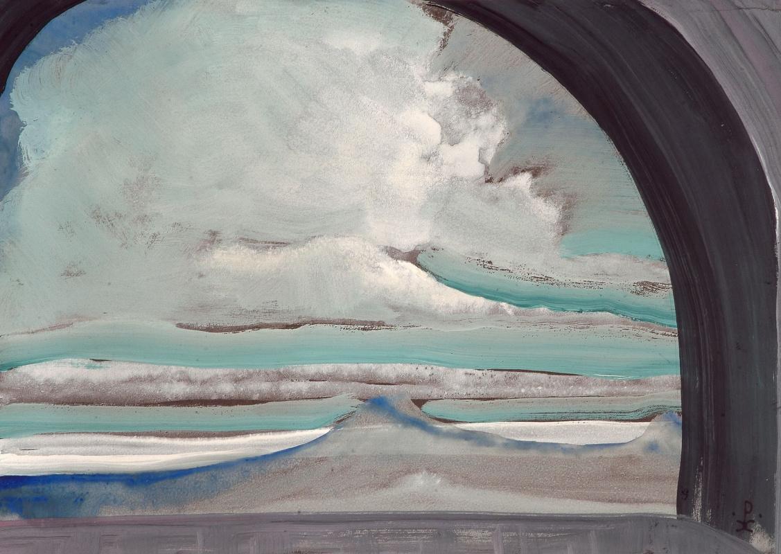 Nicholas Roerich. White cloud (Sketch)