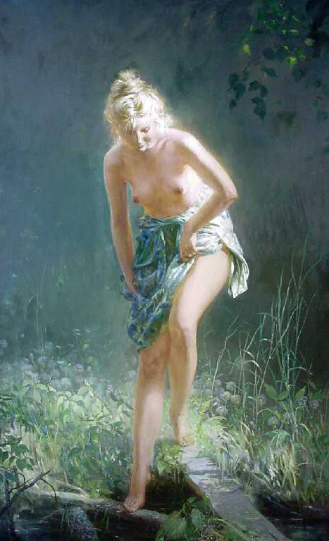 Олег Александрович Леонов. У ручья. 1998