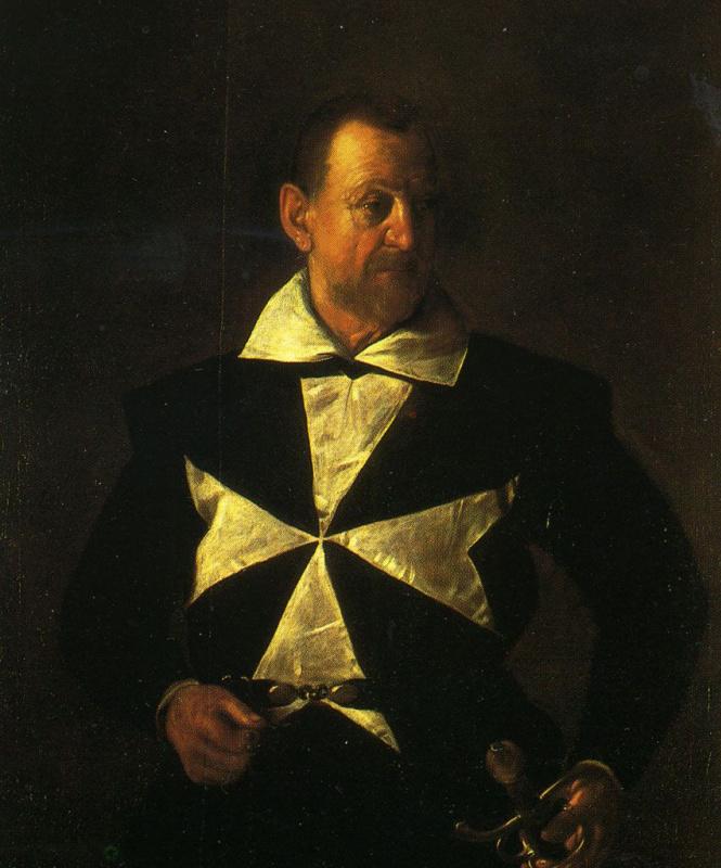Микеланджело Меризи де Караваджо. Портрет мальтийского рыцаря Антонио Мартелли