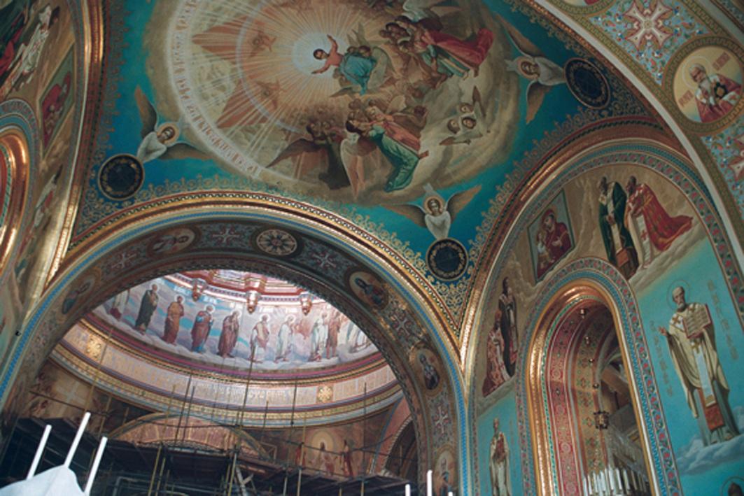 Александр Сергеевич Кривонос. Painting the dome. Cathedral of Christ the Savior