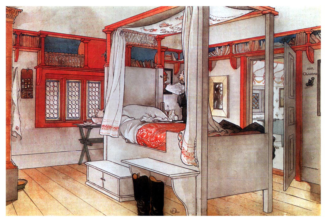 Carl Larsson. His father's bedroom