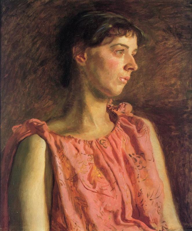 Томас Икинс. Девушка в красном платье