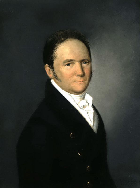 Karl Wilhelm Bardou. Portrait of middle-aged men