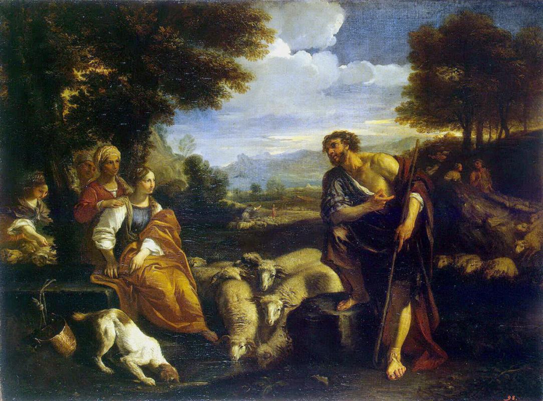 Пьер Франческо Мола. Встреча Иакова с Рахилью
