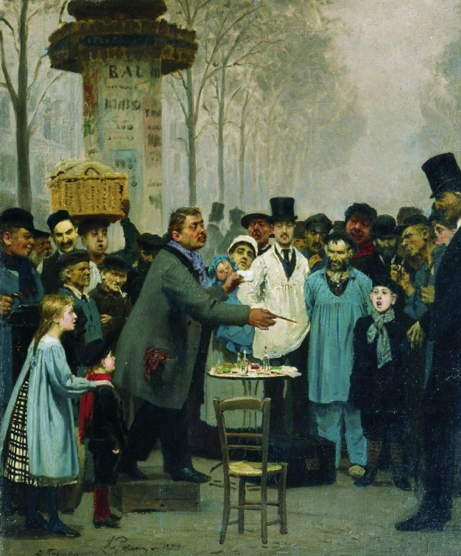 Ilya Efimovich Repin. Seller news in Paris