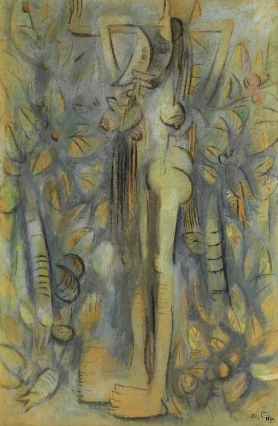 Вифредо Лам. Обнажённая на природе