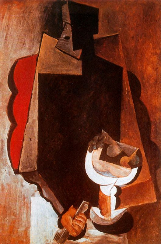 Пабло Пикассо. Человек с фруктами