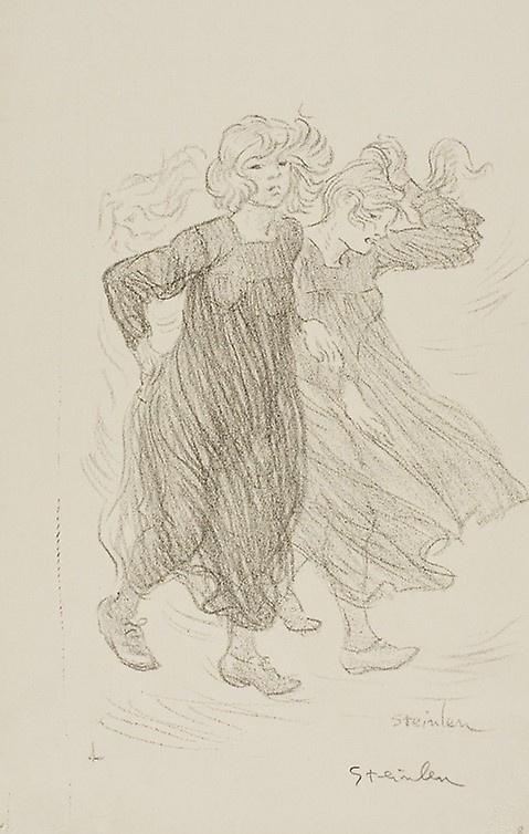 Theophile-Alexander Steinlen. A gust of wind
