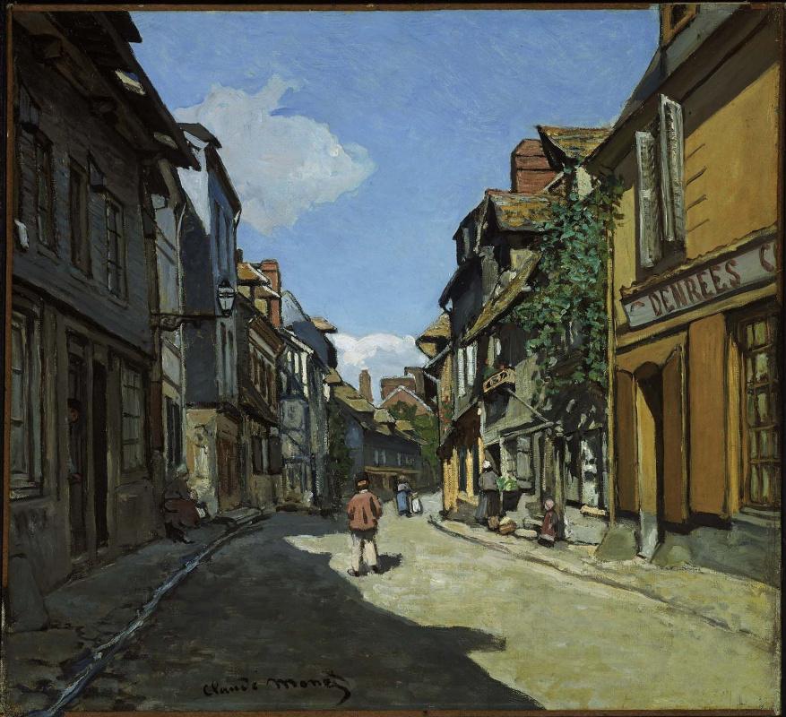 Claude Monet. Street Bavol, Honfleur