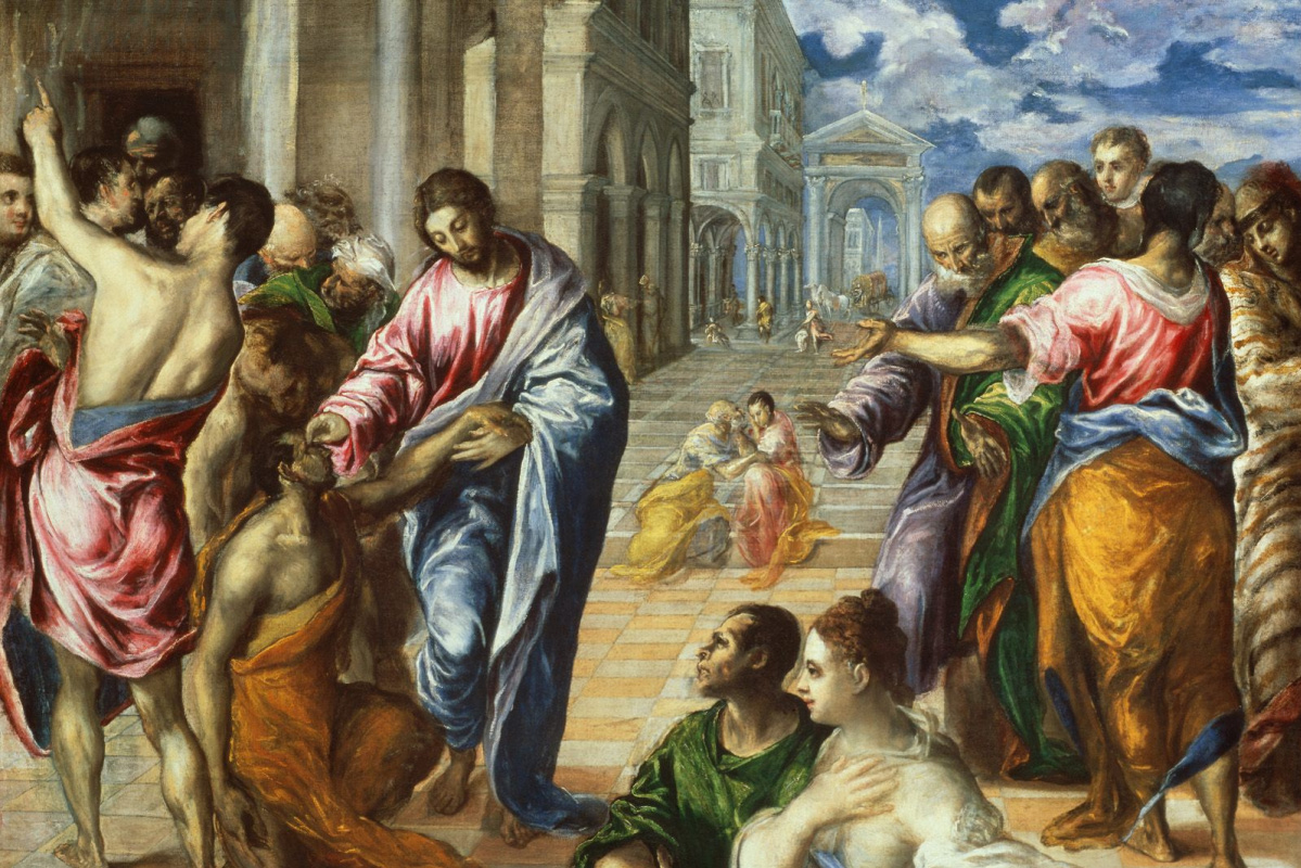 Domenico Theotokopoulos (El Greco). Christ Healing the Blind