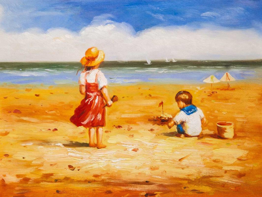 Maria Potapova. Дети на пляже N4