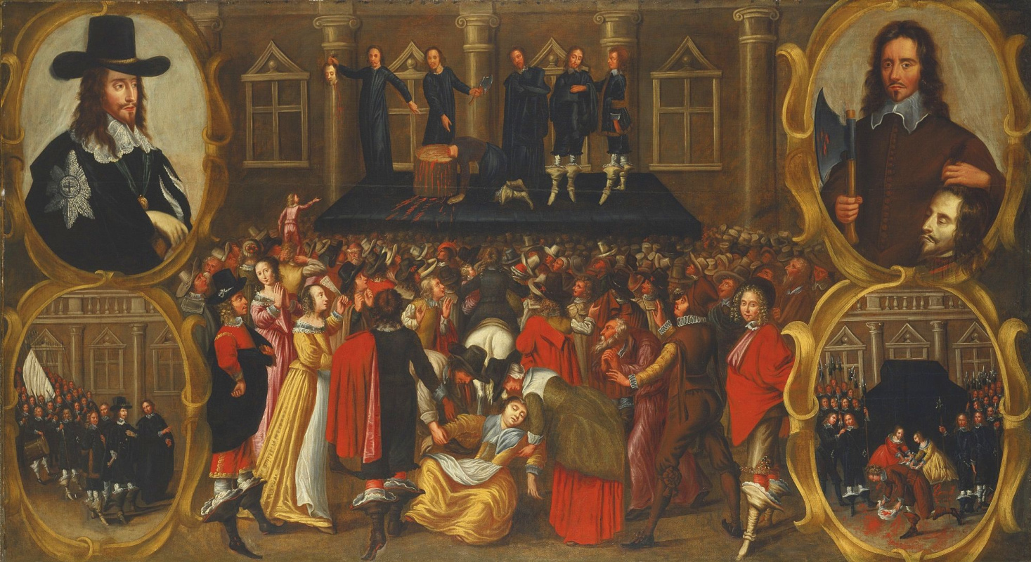 The execution of king Charles I of England of Stuart in 1649 eyewitness