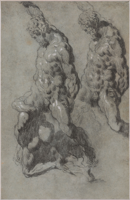 Two Studies of Samson Slaying the Philistines