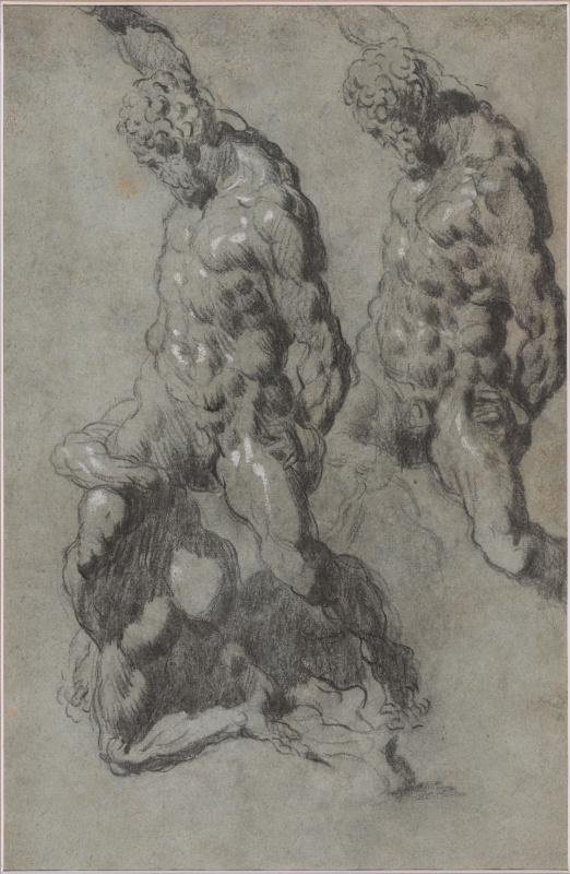 Jacopo (Robusti) Tintoretto. Two Studies of Samson Slaying the Philistines