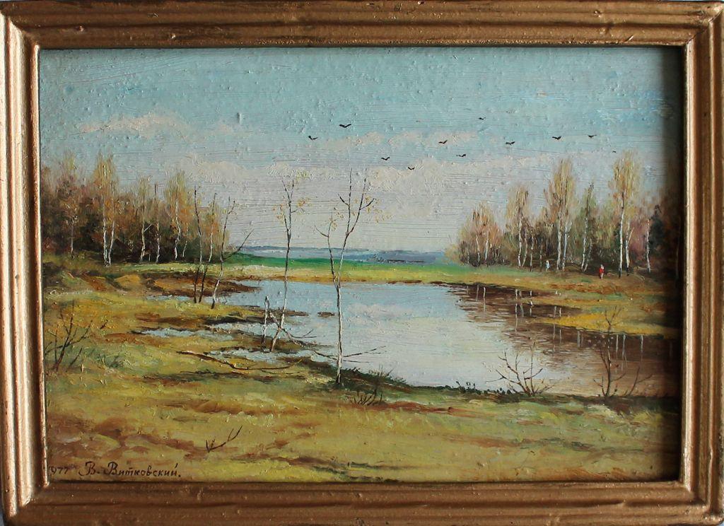 Vladimir Borisovich Vitkovsky (Vlаdimir Vitkovsky). Autumn landscape
