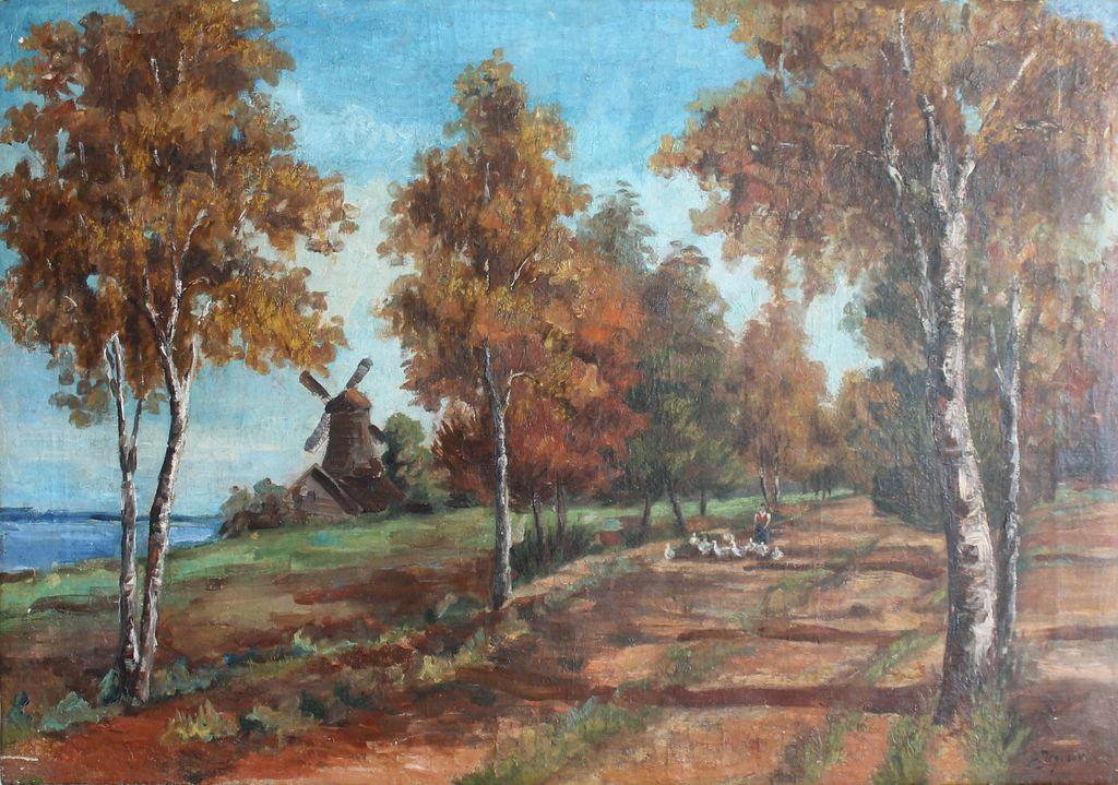 Andrei Afanasievich Egorov. Осенний пейзаж