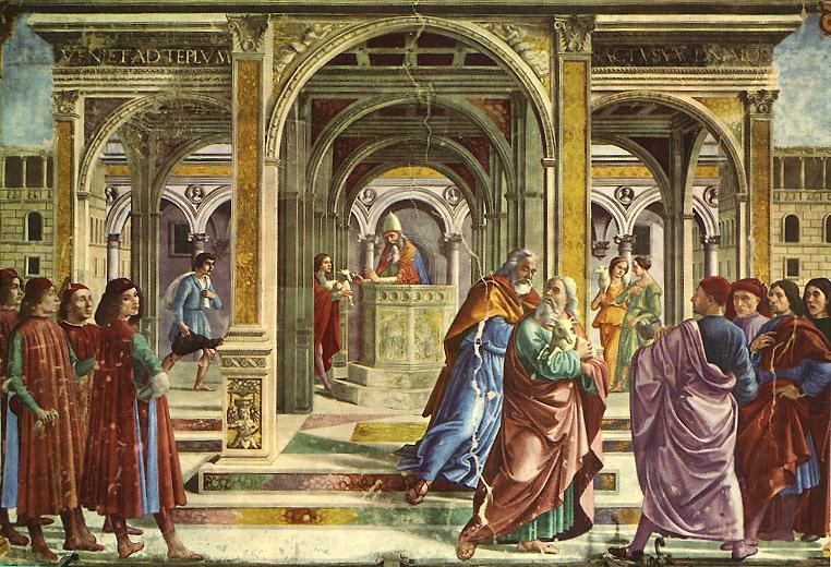 Domenico Girlandajo. The expulsion from the temple