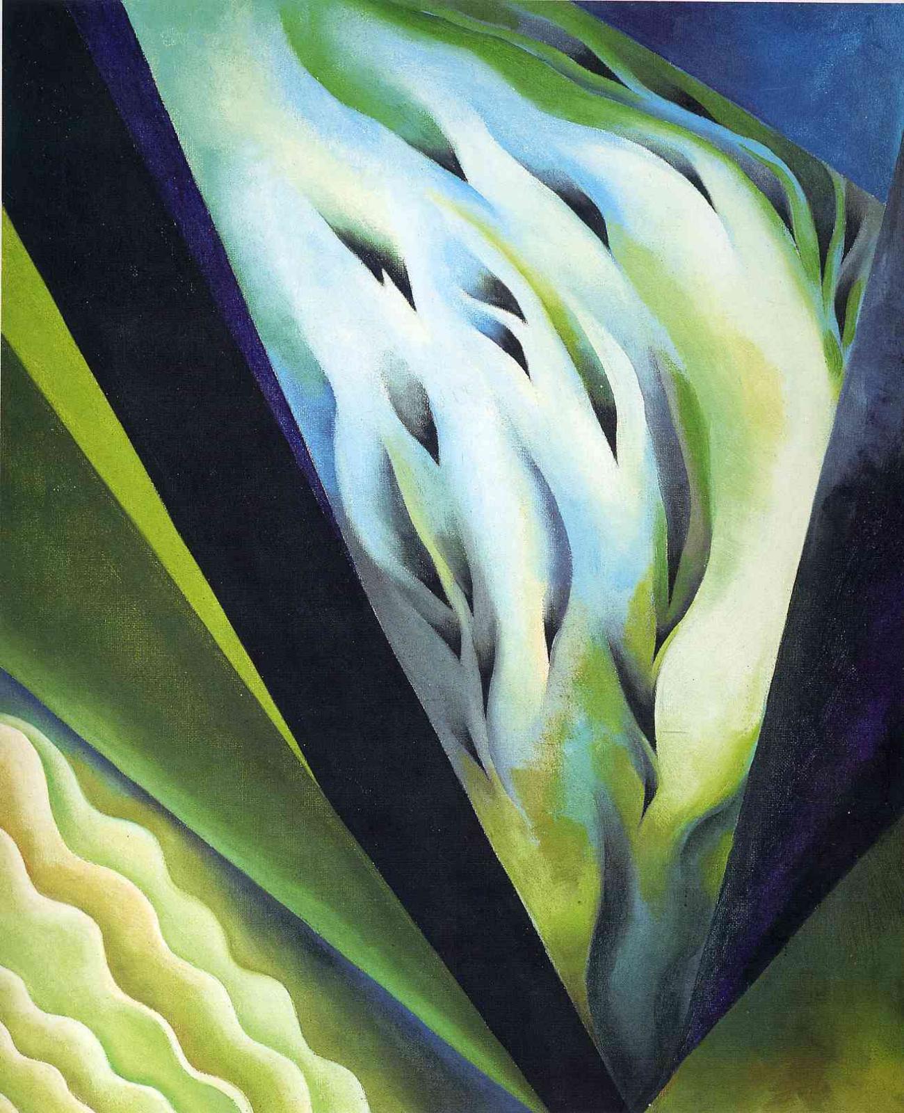 Джорджия О'Киф. Синяя и зеленая музыка
