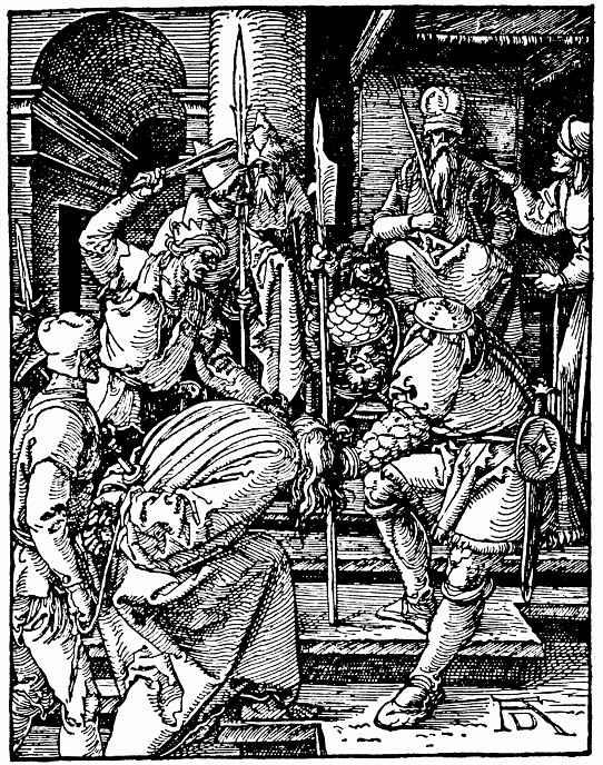 Альбрехт Дюрер. Христос перед Каиафой