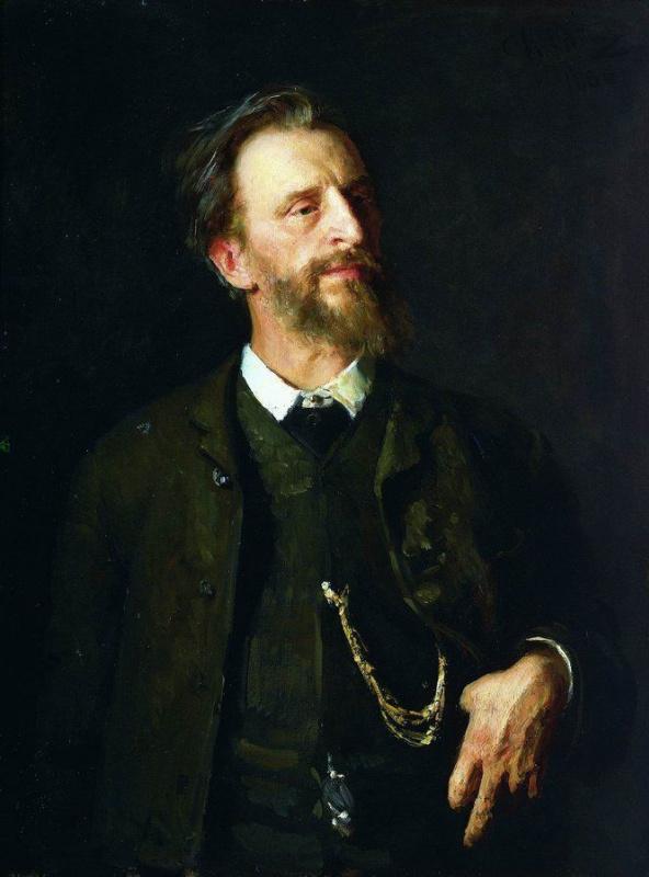 Илья Ефимович Репин. Портрет художника Г. Г. Мясоедова