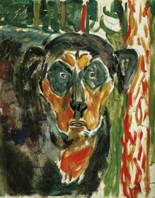 Edward Munch. The dog's head