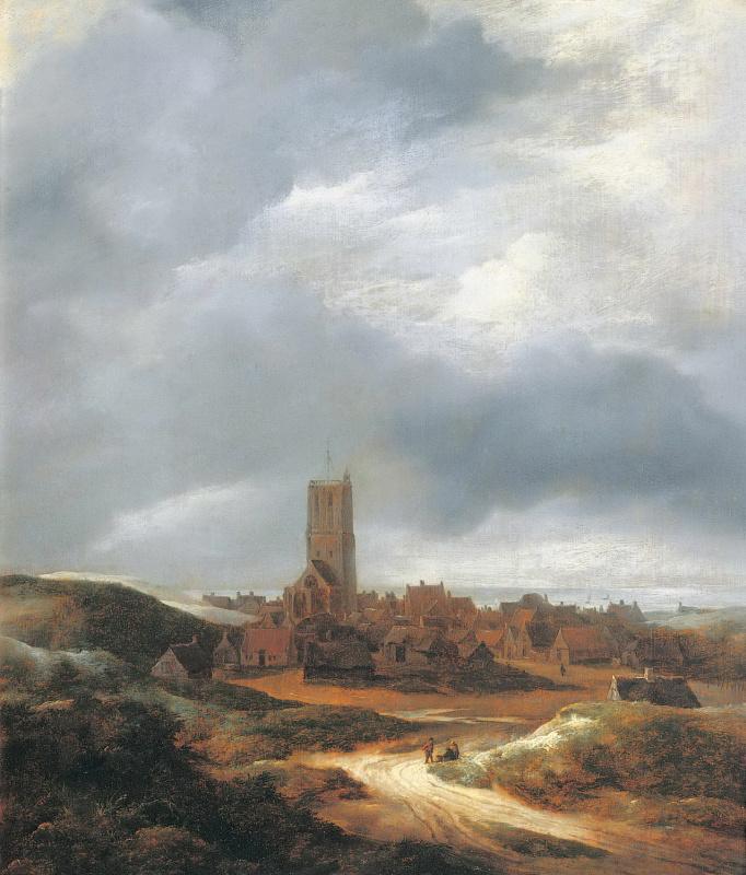 Jakob van Isaacs Ruisdael. View of Egmond aan Zee