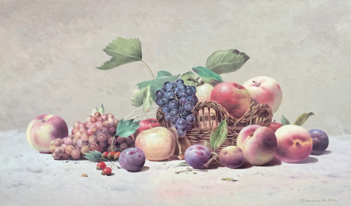 Vasily Ivanovich Gribennikov. Still life with fruit