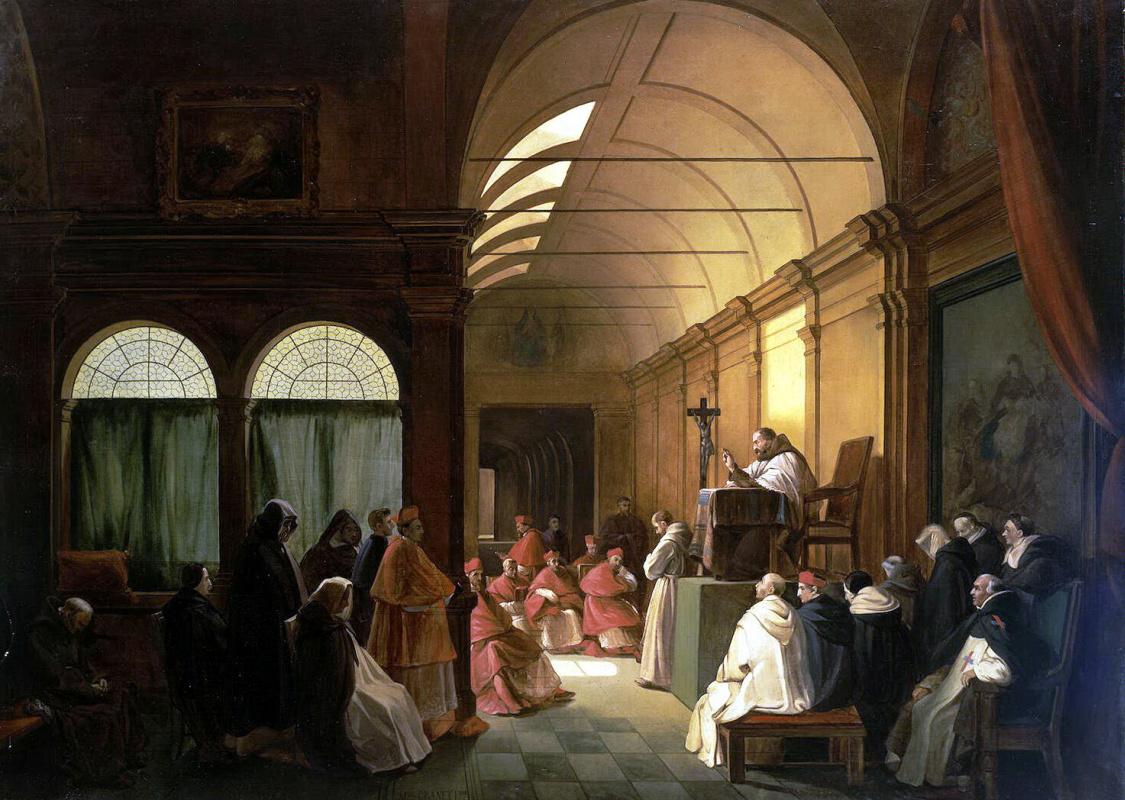 Франсуа Мариус Гране. Заседание монастырского капитула